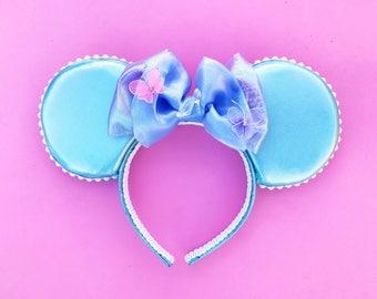 Cinderella Mickey Ears Disney Inspired Minnie Ears Headband Glass Slipper