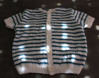 Blue and white short sleeve 24 month