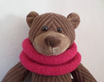 snood knitted with French knitting