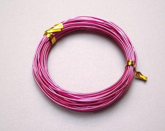 5 meter 1 mm pink fuchsia aluminum wire.