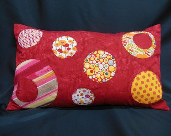 "Pillow cover collection ""lemonade"", rectangle, circle Appliqué (C313R)"
