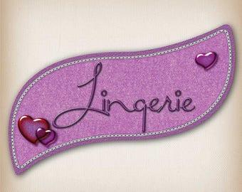 Sticker style Denim lingerie 011 door sign