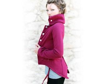 Jacket size 34 tails Burgundy albatross