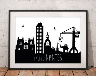 Displays Nantes minimalist black and white XXL