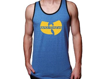 Wu Tang Jersey Blue Men Tank Top