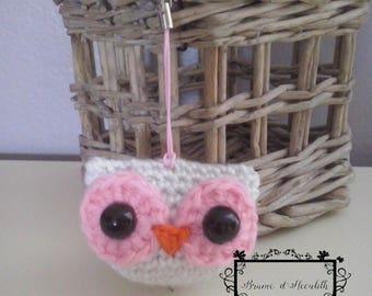 Amigurumi OWL white and pink