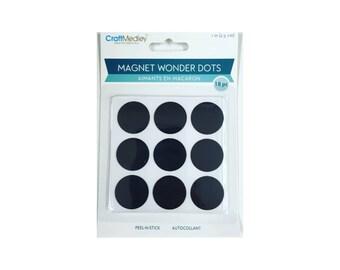 Craft Chalk Magnet dots - Set of 18