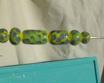 set of PERL.0305 Murano glass beads