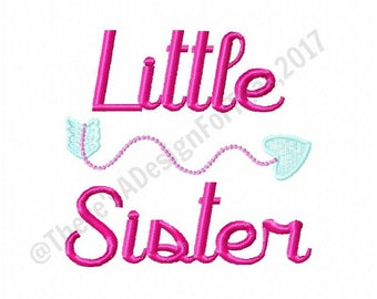 Little sister embroidery design, sibling embroidery design, baby sister embroidery design