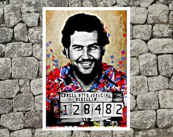 Pablo Escobar poster,Pablo Escobar print,tv poster,movie poster,narcos poster