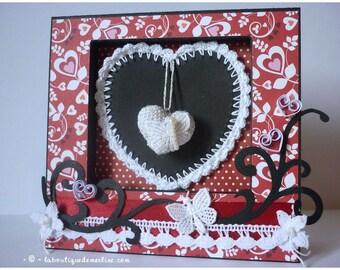Frame: card photo heart and jewel door frame