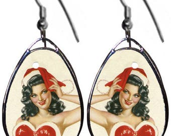 Christmas Pinup earrings