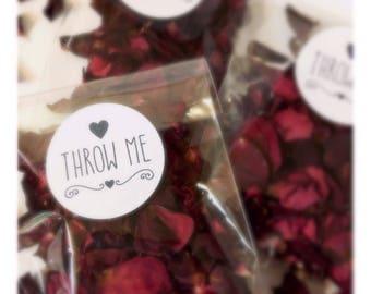 Natural, biodegradable Confetti - Piano Rose Petals. Cellophane Packs