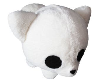 Plush fluffy white dog