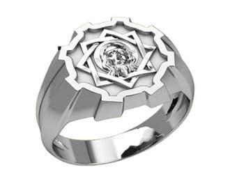 Jesus Christ Unisex Cross Ring Sterling Silver 925 SKU30371