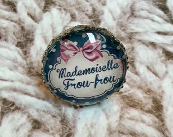"""""""Miss frou-frou"""" silver plated ring"""