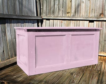 Pink, Large Hope Chest, Toy Chest, Trunk, Coffee Table, Entry, Wooden Chest