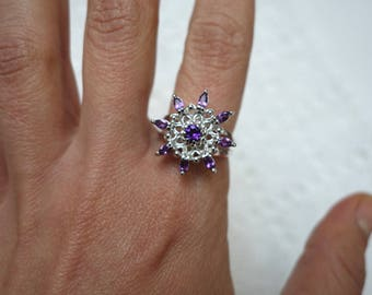 BELLINA ring in silver and Amethyst T57