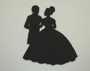 Memo, Slate, deco Couple in 22.5 x 20 cm H