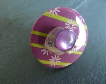 "Adjustable ring ""flower of the season"""
