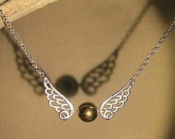 """Chaine/collier """"Vif d'Or"""" Harry Potter, Poudlard, Quidditch, fantaisie"""