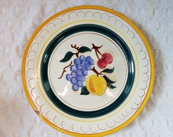 Stangl Fruit pattern 11.25 inch plate