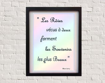 Decorative frame in A4 poster