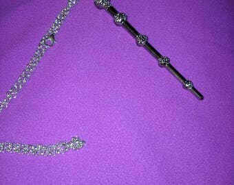 Harry Potter inspired necklace- Dumbledor's wand
