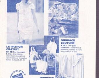 fashion and sewing pattern dress chiffon summer
