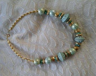 """Cleopatra"" style beaded necklace"