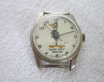 Vintage Warner Bros Daffy Duck Character Wristwatch Sheraton