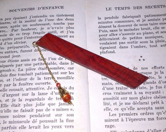 Bookmarks made of Cocobolo wood