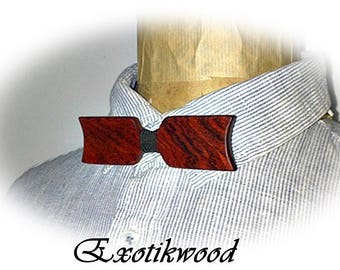 Reversible bow tie made of Cocobolo wood