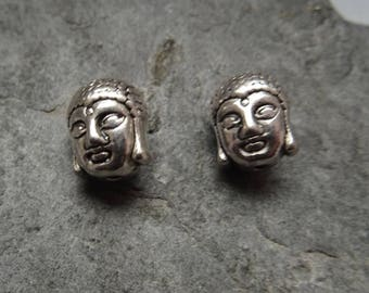 "2 charms Buddha""silver metal.  antique size 11 x 9 x 8 mm"