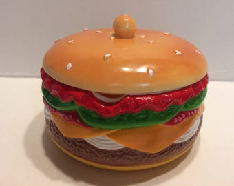 Vintage Condiment Plastic Cheesburger