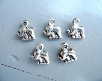 """Elephant"" nickel free silver plated charm"