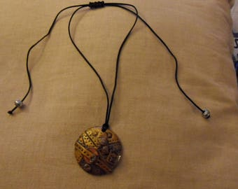Pendant polymer clay with nylon thread