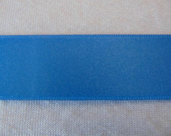 Blue double faced satin ribbon Florida, width 25 mm (S-263)