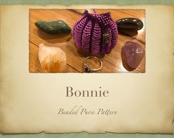 Bonnie Hanging Beaded Purse PATTERN ONLY Knitted Minature bag for Tooth Fairy Crystals Jewlery or Perfume Pouch