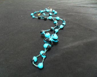 unique and colorful polymer clay and beads necklace