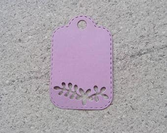 Set of 5 tags for scrapbooking flower cutouts