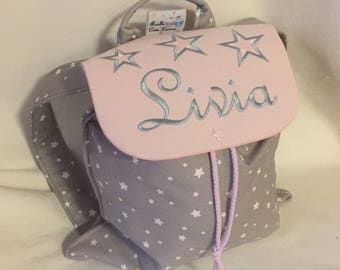 Bag child backpack personalized with name nursery or crib size 2/3 years