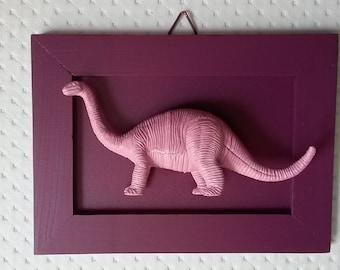 Purple/pink Dino frame