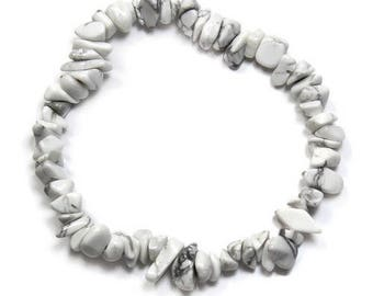 Baroque howlite bracelet