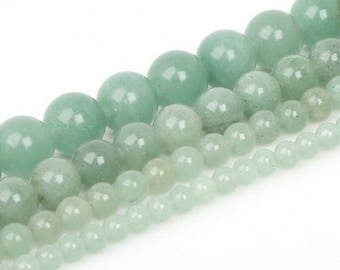Aventurine green 10 x 5 mm round bead