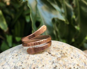 Simple Swirl Copper Ring