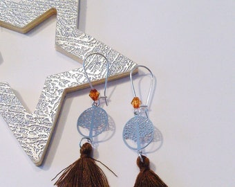 Earrings Brown tree of life collection