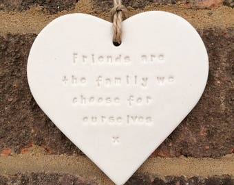 personalised friends quote heart