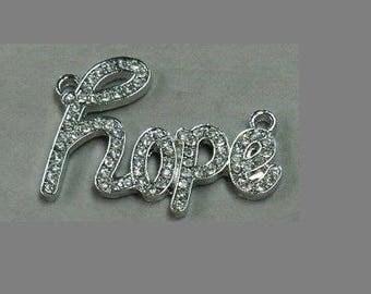 "HOPE (hope) rhinestones for shamballa ""Silver""."
