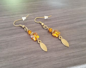Small Orange Butterfly Earrings